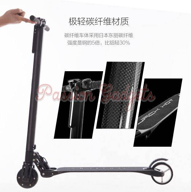 jack hot carbon fiber zero electric scooter. Black Bedroom Furniture Sets. Home Design Ideas