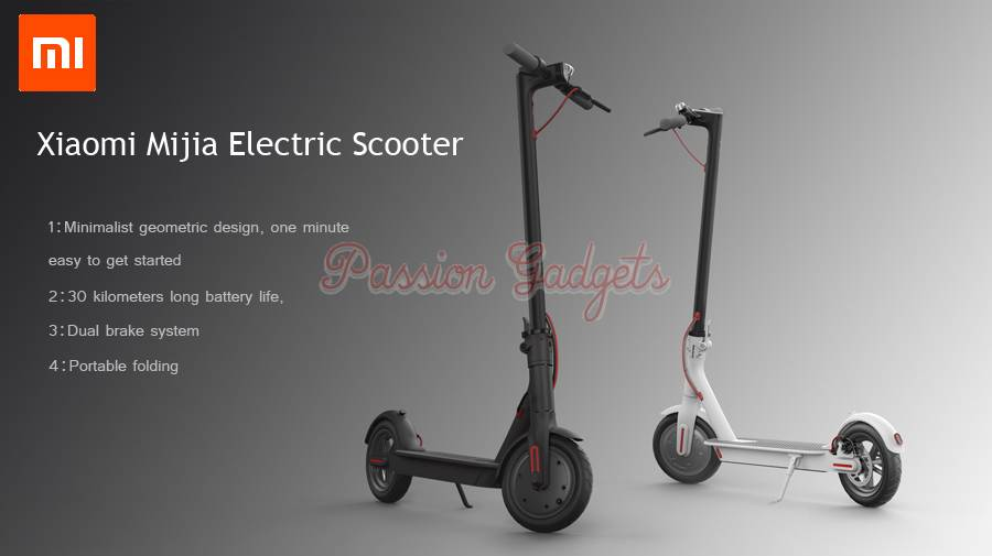 xiaomi mi jia electric scooter mijia e scooter. Black Bedroom Furniture Sets. Home Design Ideas