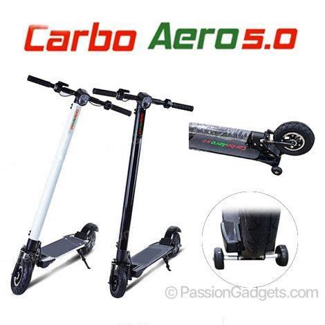 carboaero5 0 carbon fiber electric scooter dual suspension. Black Bedroom Furniture Sets. Home Design Ideas